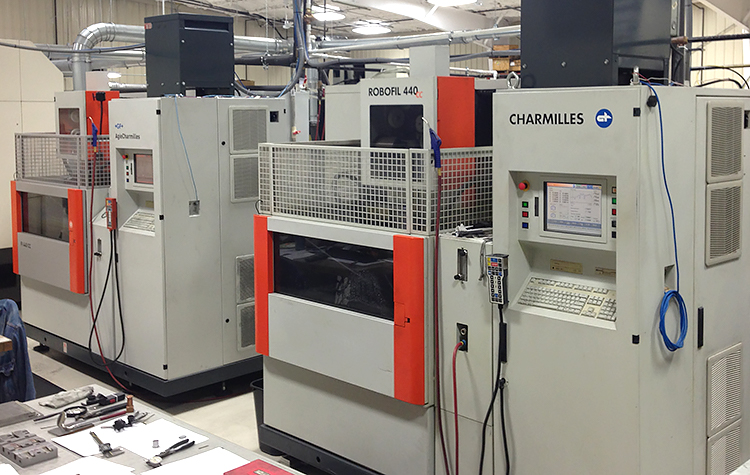 2 Charmilles Wire EDM's with Automation